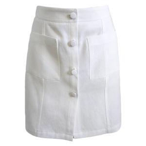 saia curta de cor branco