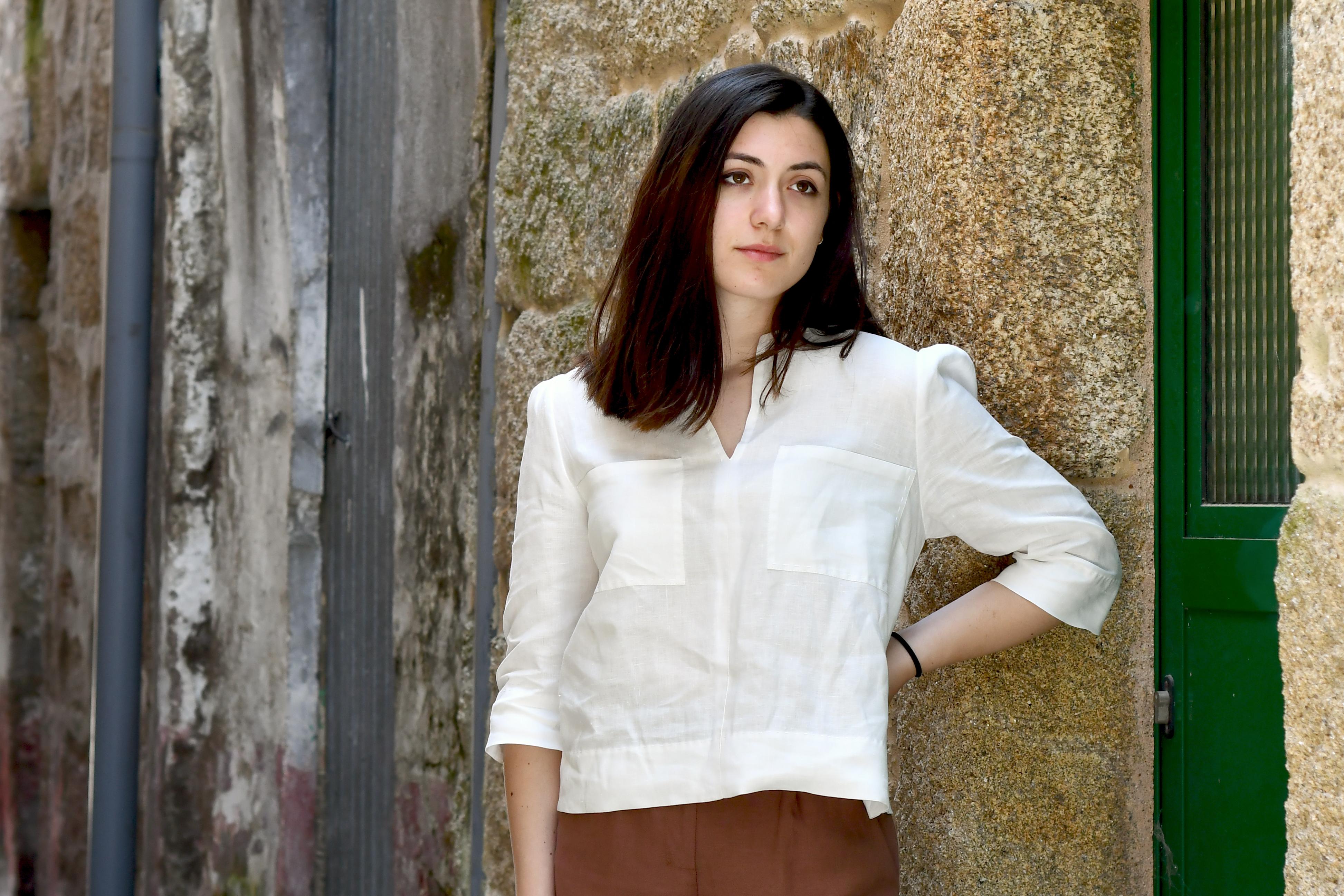 blusa blanca de liño