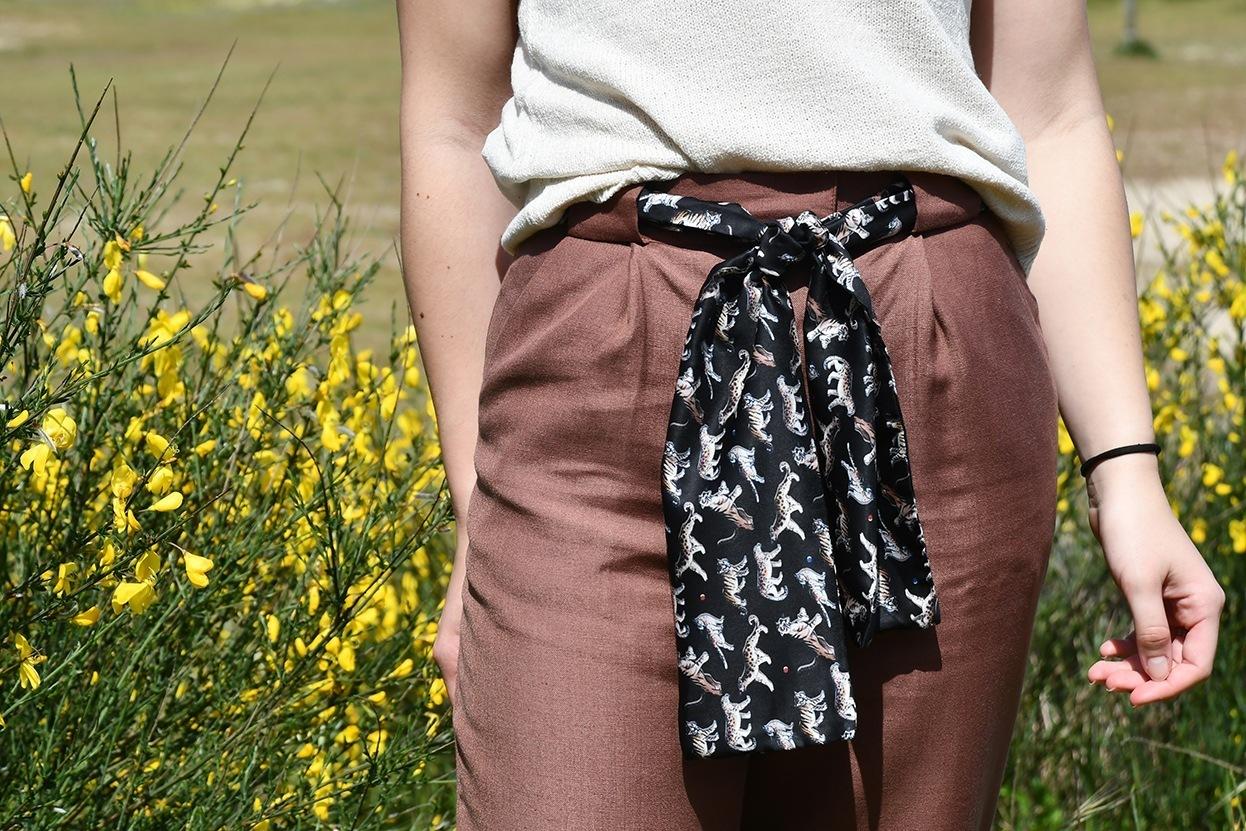 pantalón con lazo