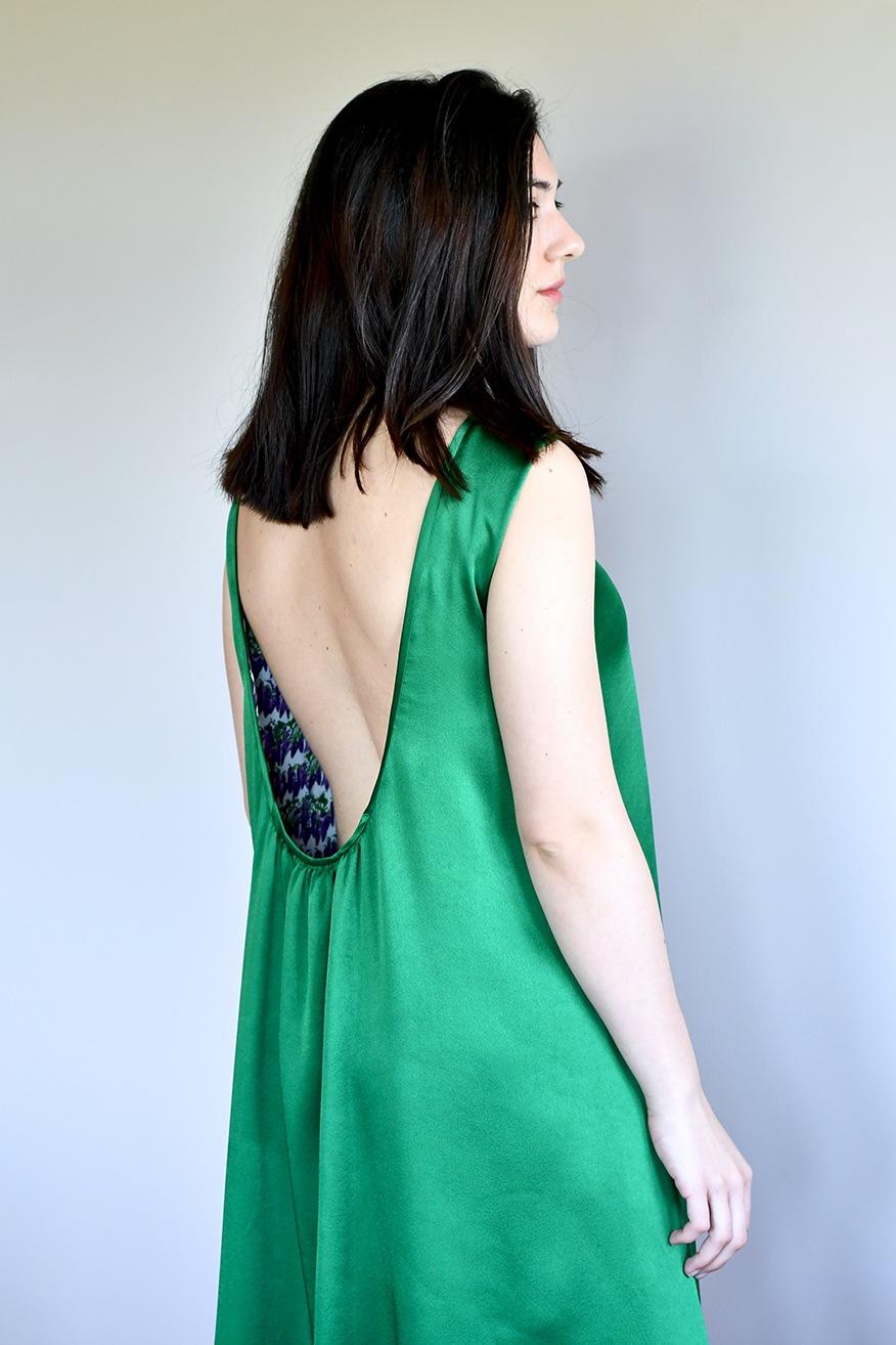vestido reversible