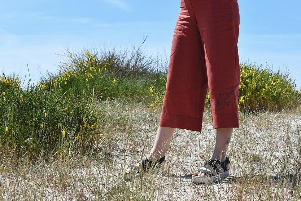 pantalón estilo culotte