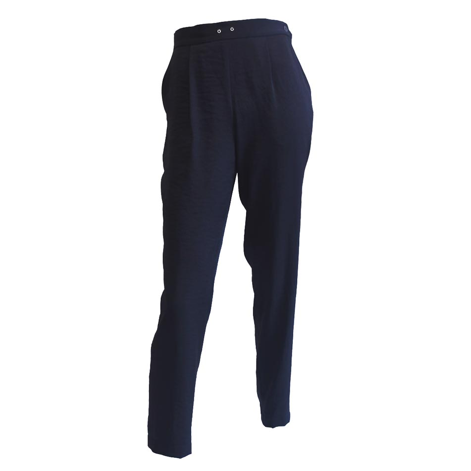 Pantalón negro tecno gabardina
