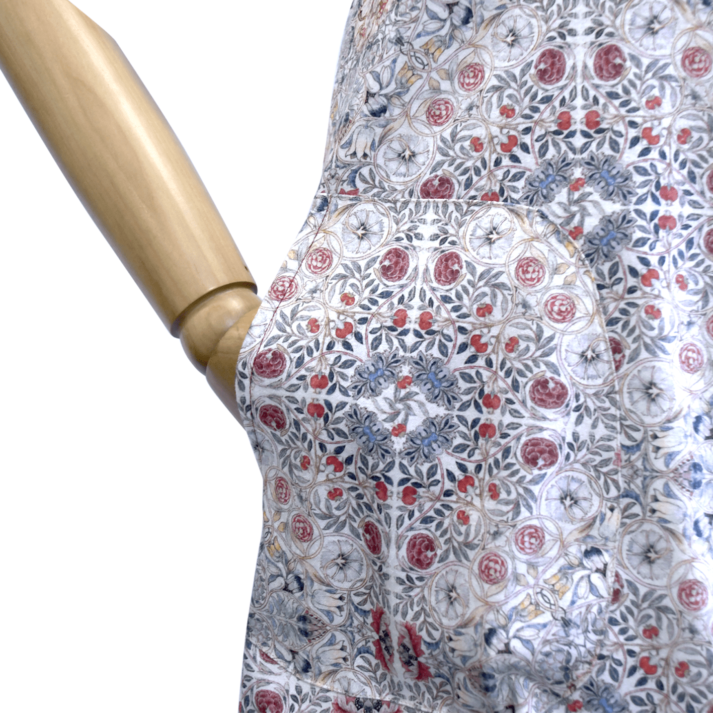 Vestido recto de manga curta