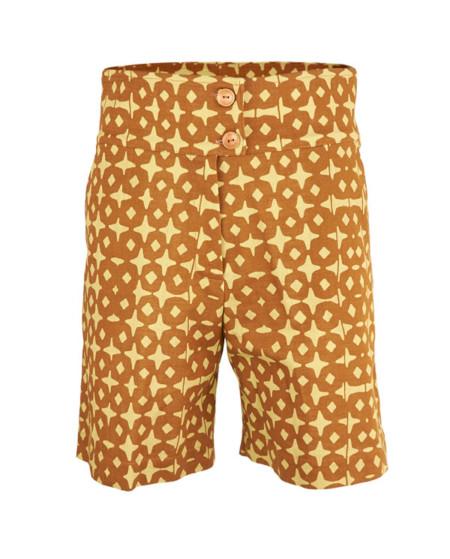 Pantalón curto estampado