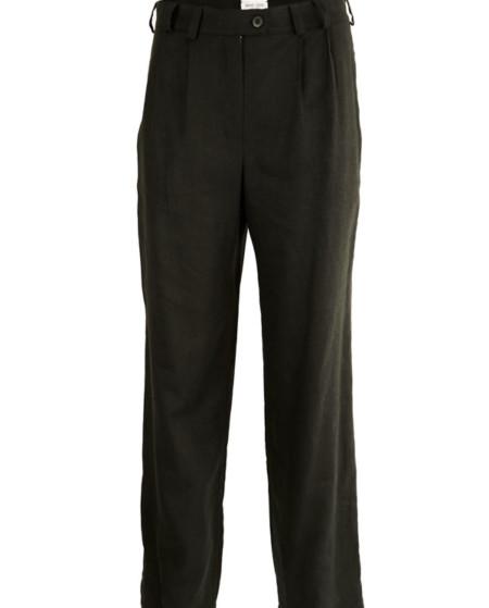 Pantalón negro de liño